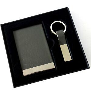 Visitenkarten-Etui plus Schlüsselring Todd Geschenk-Set 2-tlg anthrazit Philippi