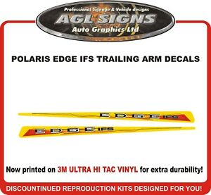POLARIS EDGE IFS PRO X Reproduction Trailing Arm Decals