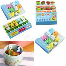 10pcs/set Animal Food Fruit Picks Forks Bento Lunch Box Decor Accessory