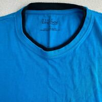 Galaxy By Harvic Tee Mens 2XL Blue Long Sleeve Crew Neck Cotton Casual T-Shirt
