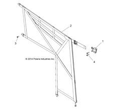 2686765 16-18 Full Size Polaris Ranger Door Net Set