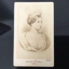 PHOTO CDV ANCIENNE La Reine Louise De Prusse 1880 PHOTOGRAPHE XIXè