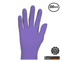 Nitrile Violet Powder Free Gloves - Textured, Ambidextrous, Box of 200 -DuraCare
