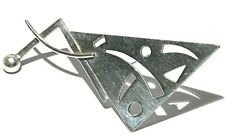 LARGE STERLING SILVER ABSTRACT MODERNIST SCULPTURE ARTISAN BROOCH PIN