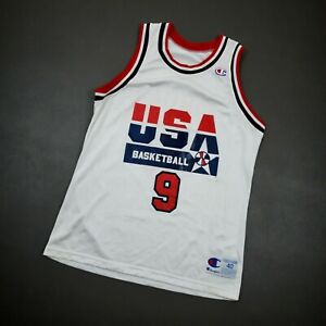 100% Authentic Michael Jordan Vintage Champion 1992 USA Jersey Size 40 M Mens