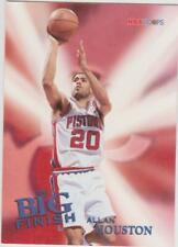 1996-97 Hoops #179 Allan Houston Detroit Pistons Big Finish