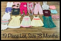 Girls Clothing Lot, 18 Months, 19 Items, Carter's, Youngland, Marmellata, Dressy