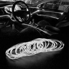 White LED Auto Car Interior Decor Atmosphere Wire Strip Light Lamp Accessories