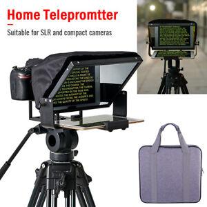 """Adjustable teleprompter DSLR Camera teleprompter for 12"""" Tablet Smartphone"""