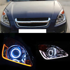 Xenon Light Headlight assembly Double light lens Halo for Honda CRV 2002-2004