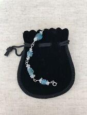 Sterling Silver Apatite & Rainbow Moonstone Bracelet