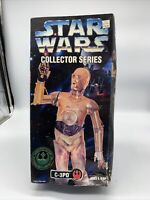 "1997 C-3PO C3PO Star Wars 12"" Collector Series Figure Brand New Kenner Hasbro"
