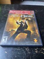 Rise to Honor Jet Li PlayStation 2 PS2 Black Label Vintage Video Game Complete