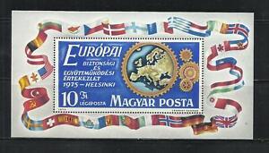 HUNGRIA . Año: 1975. Tema: CONFª SOBRE LA COOPERACION Y SEGURIDAD EN EUROPA.