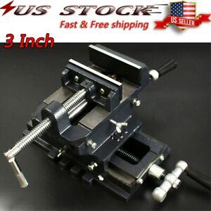 "3"" Cross Slide Vise Drill Press Heavy Duty Metal Milling 2 Way X-Y Clamp Machine"