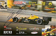 2010 SIMONA DE SILVESTRO signed INDIANAPOLIS 500 PHOTO CARD POSTCARD INDY CAR