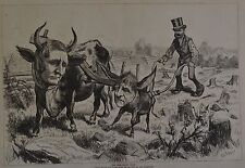 Harper's Weekly, 1876. The Democratic Team. Wood Engraving.