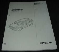 Werkstatthandbuch Opel Zafira Technische Neuheiten Stand Oktober 1998