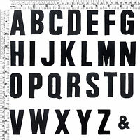 #001E Black Letters Alphabet A - Z Sew Iron on Motif Patch Applique -2 Inch Tall