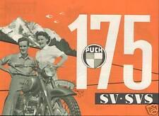 Oldtimer Motorrad PUCH 175 SV-SVS PROSPEKT 1954 STEYR DAIMLER Österreich Sammler