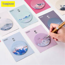 cute traditional color weekly plan Sticky Notes Post It Memo Pad kawaii stat