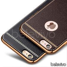 Luxury Ultra Slim Soft TPU PU Leather Case for Apple iPhone X 8 7 Plus 6S 5S SE