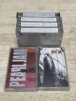 Pearl Jam Cassette Lot Of 6 Cassette Tapes Ten Vs. + Live Show 4/3/94 Grunge