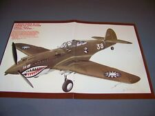 "VINTAGE..HAWK 81 AVG ""FLYING TIGERS"".....2-page  COLOR PROFILE..RARE! (172L)"