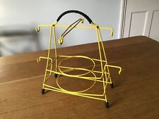 Vintage wire 1960s cup saucer plate stand