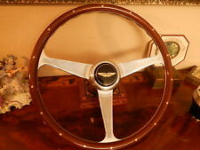 Aston Martin DBS + V8 1977 -  1985 Wood Steering Wheel NARDI engraved spokes
