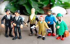 Tintin - 6 x Figurine (5 x Comics Spain 1984 - Lombard) + (1x Plastoy 1994)