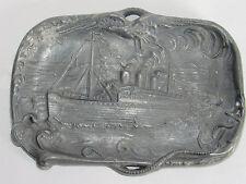 09C3 ANCIEN VIDE POCHE RÉGULE SOUVENIR DE LA MALLE D' OSTENDE BATEAU BELGIQUE