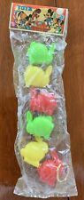 Vintage Toys Rabbits Multi Colored Made In Hong Kong 1960's New Old Stock