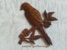 "Rusty BIRD Cutouts Tin 12 pcs  2"" Tall Primitive Rustic Country, Garden, Crafts"