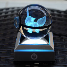 3D Pokeball Pokemon Go Eevee Crystal Night LED USB 7 color changing desk light