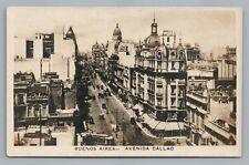Buenos Aires—Avenida Callao—Rare Antique Steet Tarjeta Postal Trolley~1920s