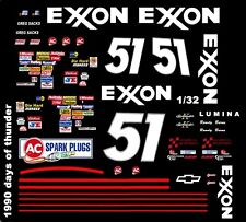 #51 Rowdy Burns Exxon 1990 1/32nd Scale Slot Car Waterslide Decals