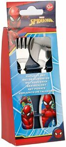 Spiderman Metal Cutlery Set Fork and Spoon