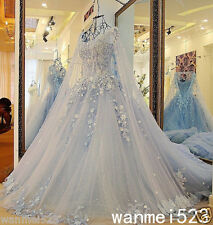 Wedding Dress Princess Gothic Shiny Bead Medieval Bridal Gown Fairy Sweep Train