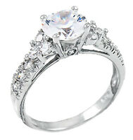925 Sterling Silver Womens Wedding Bridal Band CZ Stone Engagement Promise Ring