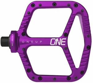 OneUp Components Aluminum Platform Flat MTB Mountain Bike Pedals Purple