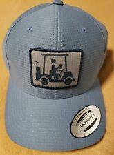 Travis Mathew Coming In Hot Golf Cart Baseball Hat Bluestone Snap Back One Size