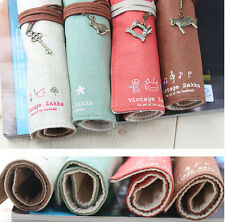Canvas Holder Wrap Roll Up Stationery Pen Brushes Makeup Pencil Case Pouch Bag