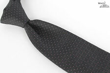 "NEW Piombo Black W/ Purple Microdot Unlined 100% Silk 3"" Wide Tie"