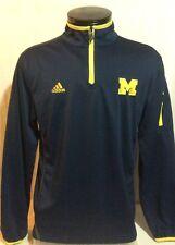 Adidas Michigan Wolverines Climalite Long Sleeve Sweater Medium