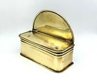Victorian 1850's brass hanging box with lid. Kitchenware. Rare wonderful piece