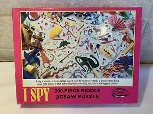 Vintage 1993 Ceaco I Spy 200 Piece Riddle Jigsaw Puzzle #1760-5 Complete
