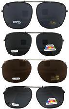 Occhiali da sole a clip per grandi lenti occhiali telaio RETTANGOLO VERDE STOCK USA