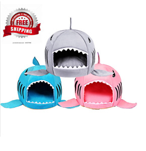 Pet Cat Bed Soft Pet Cushion Dog House Shark For Large Dogs Tent High Quality Co