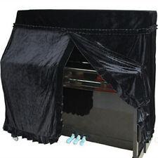 Piano Full Cover Elegant Pleuche Upright Piano Protector Size 152x60x110cm Black